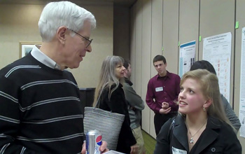 Dr. Lance Perryman and Melissa Bushey, Research Day
